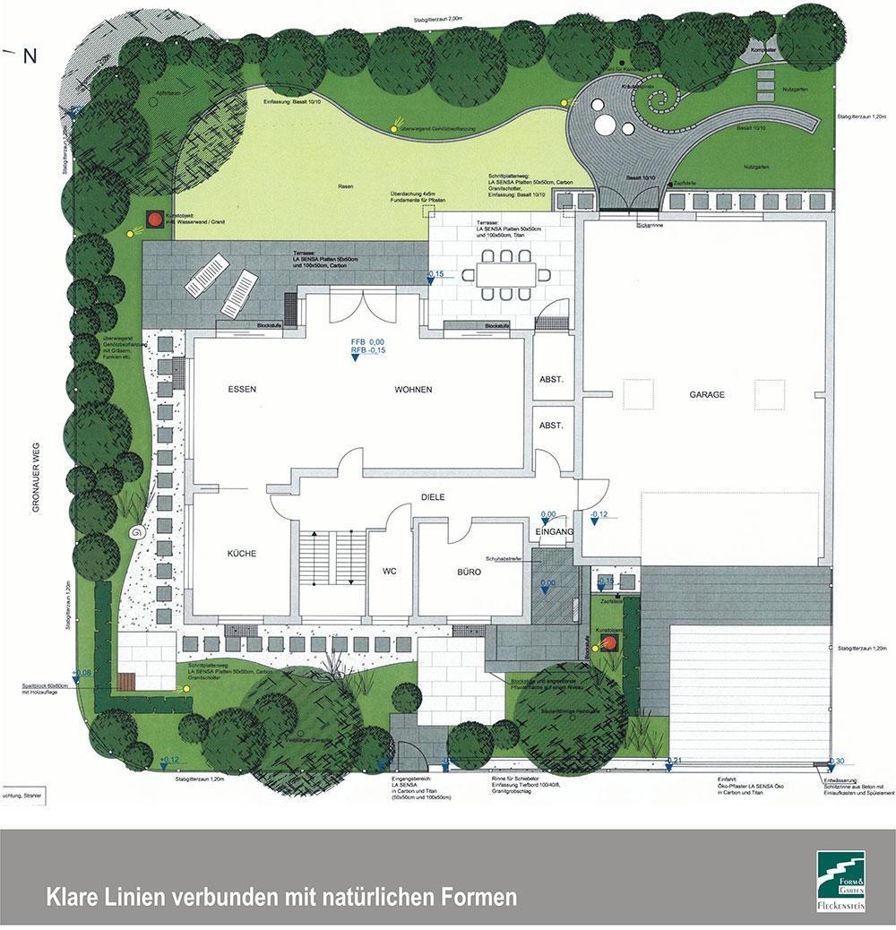 Leistungsspektrum gartenplanung form garten fleckenstein gmbh - Garten skizze erstellen ...