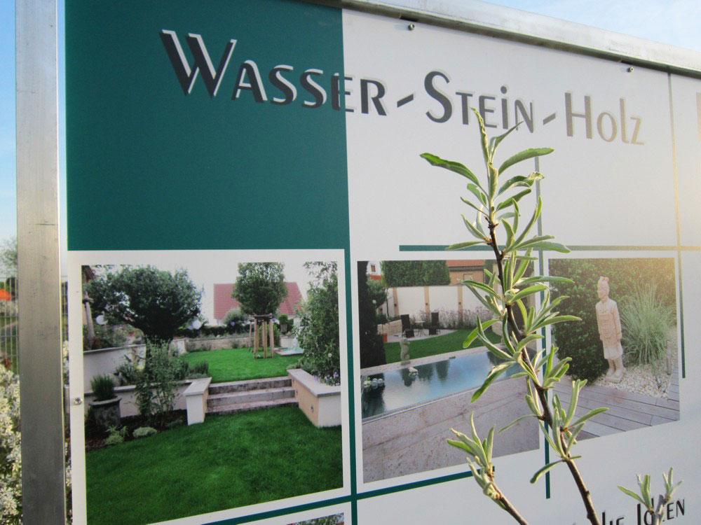 Mustergarten Wasser Stein Holz Form Garten Fleckenstein Gmbh