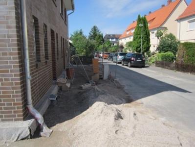 Vorgarten Baustelle