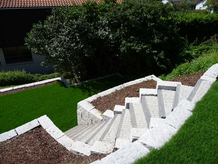 Hangverbau Trockenmauer Treppenanlage Steilhang