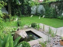 Terrasse Porphyrplatten Gartengestaltung Weinheim