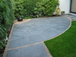 Garten Gartengestaltung Eingang Ausführung Pflaster
