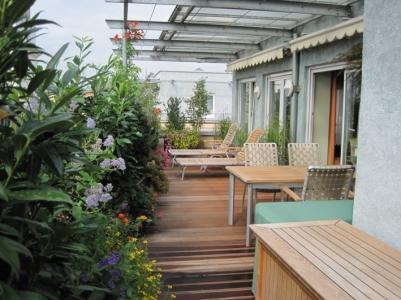 Dachterrasse Holz Bepflanzung