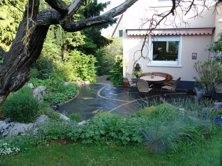 Garten polygonaler Plattenbelag, Polygonalplatten Naturstein