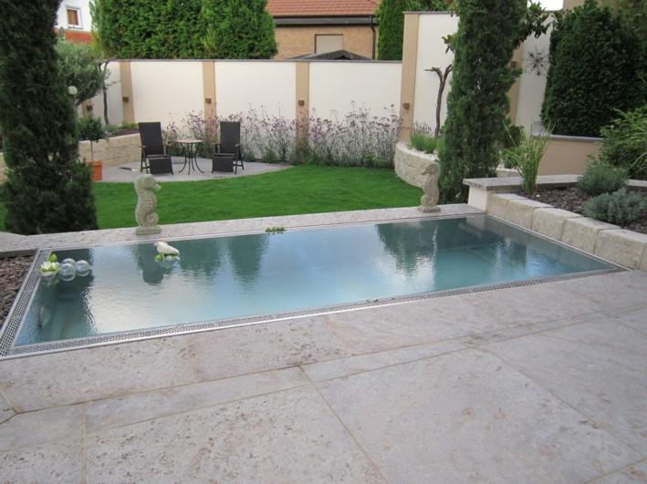 Wasserspiel Garten mediterran