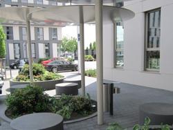 Aussenanlage gewerblich Mannheim Eingang Sitzplatz Eastsite